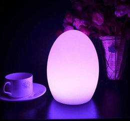 Wholesale Decorative Led Bars - Wholesale- LED Egg bar table lamp,Dining Room Rechargeable Decorative light 7 Colors in One D15*H20cm Gifts LED Lamp