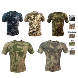 Deutschland Outdoor Woodland Jagd Schießen Shirt Schlacht Kleid Uniform Taktische BDU Armee Kampf Kleidung Hohe Elastische Tarnungs T-Shirt Versorgung