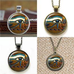 Wholesale egyptian chains - 10pcs Eye of Horus Egyptian Egyptian Eye Jewelry Pendant glass Necklace keyring bookmark cufflink earring bracelet