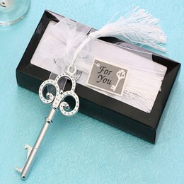 Wholesale Key Party Favors - Party Gift Opener Creative Wedding Favors Key Bar Beer Bottle Opener Unisex Decorative Gift Opening Tools Dining Kitchen Home 2017