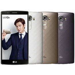 Wholesale Lg Mobile Phone Unlocked - Refurbished Original LG G4 H815 H811 H810 H815T 5.5 inch Android 5.1 Hexa Core 3GB RAM 32GB ROM 16MP 4G LTE Unlocked Mobile Phone DHL 1pcs