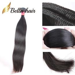 colorant de cheveux brésilien de qualité Promotion Bella Hair® Bundles de cheveux humains vierges brésiliens de qualité supérieure de 11A Les extensions de cheveux raides Les armures de cheveux vierges non transformés de 1pc peuvent teindre à 613