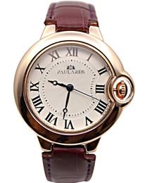 Deutschland Luxus Quarz Brand New Mens Frauen Mit Strass Uhr Mode Lederband Kleid Armband Rose Gold Schwarz Blau Lady Watches cheap gold rhinestone leather bracelet Versorgung