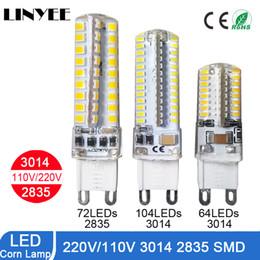 Wholesale Corn Cob Lamp - G4 led bulbs G9 Lamp lighting AC DC12V 220V 110V LED Crystal chandeliers lights SMD3014 silicone led g4 spot lamp decoration lig