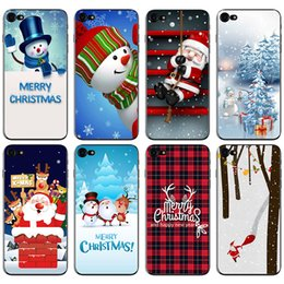 Wholesale Cell Christmas Cases Wholesale - New Arrival TPU Christmas Case for iphone X 8 7 6 6s Plus 5 5s SE Samsung Huawei Painting Cell Phone Cases Back Covers Shell OPP Bag