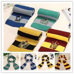 Wholesale Harry Potter Black - Harry Potter Scarf Gryffindor School Unisex Knitted Striped Scarf Gryffindor Scarve Harry Potter Hufflepuff Scarf Cosplay