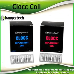 Wholesale Evod Replacement Coils - Authentic Kanger CLOCC Coil Head 0.15ohm 0.5ohm 1.0ohm 1.5ohm SS316L Replacement Coil for kangertech EVOD PRO Cupti Kit 100% Genuine 2211061