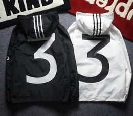 Wholesale Over Sized Long Sleeves - Yohji Yamoto Jacket Men Windbreaker Jacket Over Size Fashion Male Harajuku Hip Hop Outdooor Coat