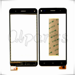 fly phone screen Promo Codes - Wholesale- With Tape Mobile Phone Touchscreen Front Glass For Fly Cirrus 4 FS 507 FS507 Touch Screen Panel Sensor Digitizer Replacement
