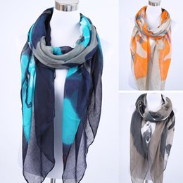 Wholesale Mixed Scarves For Women - Wholesale-1 Pcs 100%Viscose Camouflage Black White Color Print Scarf For Women Mixed Style Foulard Femme Shawls and Scarves