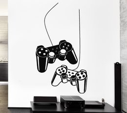 Wholesale Video Game Switches - Joystick Wall Sticker Gamer Video Game Play Vinyl Decal Art Mural Poster Home Decoration VInyl House Bedroom Playroom Wall 30*57 cm