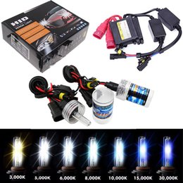 Wholesale H7 Headlight Bulb 12v 55w - 35W 55W 12V HID Xenon Conversion KIT Headlights Free Canbus H1 H3 H7 3000 4300k 6000 8000 10000K 12000K Lighting Slim Ballast KIT Bulbs Set