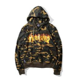 Wholesale Camo Hoodie Sweatshirt - 2017 new camo hoody sweatshirt mens off 0W hoodies streetwear hooded pullover sweatshirt clothing kanye clothes hiphop hoodies