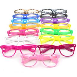 Wholesale Clear Framed Nerd Glasses - Wholesale- Eyewear Frames Clear Lens Glasses Square Frame Unisex Men's Women's Nerd Trendy New Y9