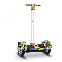 Wholesale Two Wheel Balance Boards - A8 two wheels hoverboard bluetooth smart self balancing electric scooters 10 inch hover board with handbar Remote Controller for Kids Adults