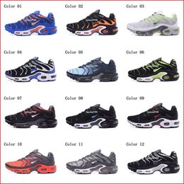 Wholesale Cheap Shoe Brands - Cheap Hight Quality Brand New Air Sports TN Running Shoes For Men Black White Mens Athletic jogging Tennis Shoes Grey Man Training Sneakers