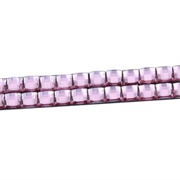 Wholesale Automotive Vinyl - 10Pairs Pink 3D Car Diamond Eyeliner Decal Headlight Stickers Automotive Logo Eyelashes