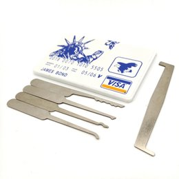 Wholesale James Bond Credit - The Controller James Bond Pocket credit card lock pick set (5 pcs) Durable Ultra Small Easy Carry DHL shipping