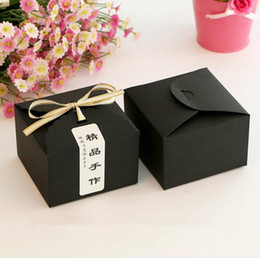 Wholesale Fire Packages - 50pcs lot Kraft Paper Cake Box ,Macaron Gift Bakery Cookie Favor Cupcake Chocolate Packaging Box Christmas Wedding