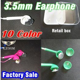 Wholesale Chinese Phones For Sale - Hot Sale Color Earphones In-ear Headphone Headset With Mic Subwoofer For 3.5mm phone Headphones With Retail Box