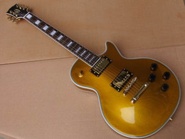 Wholesale Goldtop Gold Top Electric Guitar - wholesale New Arrival Chibson LP Custom electric guitar mahogany body goldtop top quality in gold 110520