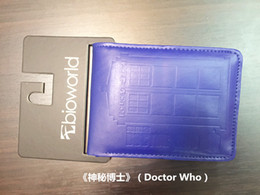 Wholesale Police Cards - High Quality Doctor Who Wallets Dr Who Tardis Police Box Printing Purse Short Teenager Men Women's Leather Wallet Card Money Bag
