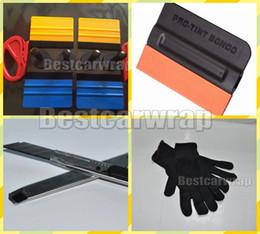 Wholesale Knives Gloves - 4pcs Magnet gripper   4 pcs Squeegee 3M and 1 pcs Knifeless tape Design Line 2 Pcs knife cutter 1 pair gloves and Knife Car wrap Tools kits