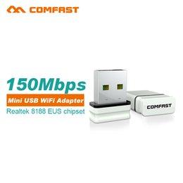 Wholesale Comfast Wifi Adapter - Wholesale- 10pcs WiFi wireless adapter 150Mbps network LAN Card Comfast CF-WU810N RTL8188EU wireless usb wlan adapter 802.11n wi-fi dongle