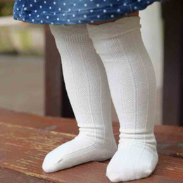 Wholesale Child Girl Knee High Socks - Everweekend Children Socks Baby Girls Ruffle Long Socks Kids Cotton Socking Children Knitting Knee High Socks
