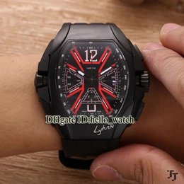 Wholesale Mens Watches Car - High Quality Brand Luxury New Saratoge Yachting PVD Black Japan VK Quartz Chronograph Mens Watch Rubber Strap Racing Car Sport Watches