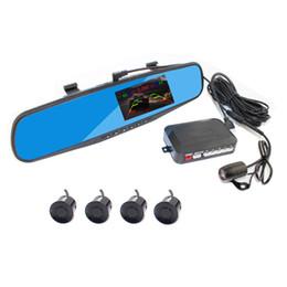 Wholesale Dvd Sensor - DVD parking sensor PZ621 four sensors auto car camera human voice Bibi sound alarm 64 colors to choose Free post epacket