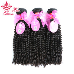 "Wholesale Wholesale Price Quality Weave - Queen Hair 100% Virgin Human Hair Best Quality 8""-30"" 3pcs lot virgin Brazilian kinky curly hair weave In stock factory price"