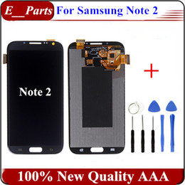 Wholesale Galaxy Note Digitizer I317 - 1Pcs For Samsung Galaxy Note 2 LCD N7100 N7105 T889 i317 i605 L900 Quality AAA LCD touch screen digitizer Assembly With Open Tools
