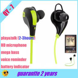 Wholesale Headphone Sport Fashion - sweatproof UV coating In-ear Headphone QY7 QY-7 Bluetooth v4.1 ture Stereo Sport Headset Earphone Fashion Running headphone,Retail Box,DHL