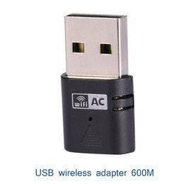 Wholesale Wirless Adapter - Double Frequency 5G 2.4G 433Mbps USB Wifi Adapter AC600 Dual Band 802.11ac PC Network Lan Card
