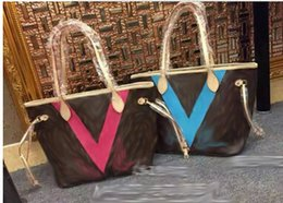 Wholesale Designer Leather Cowhide Handbags - Famous designer Cowhide AAAAA top quality Hot Sell NVVER FULLS women handbag bag Shoulder Bags lady Totes handbags bags #40156 #40157 #5110