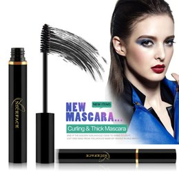 Wholesale Eyelash Extension Liquid - High quality New NICEFACE Waterproof Extension Black Liquid Fiber Thicken Long Multi-functional Curling Eyelashes Cosmetic Makeup Mascara