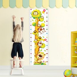 Wholesale Toys Chart - 20PCS Kids Height Chart Home Decor Wall Sticker for Kids Rooms Giraffe Height Ruler Decals Wallpaper