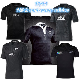 Wholesale Army Shirt Xxl - New Zealand All Blacks Rugby Jersey Shirt 2015 2016 2017 Season, All Blacks Mens Rugby Football Jersey 16 17 Size S-XXXL best quality