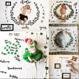Wholesale Infants Props - Ins Kids Blankets newborn photography background props baby photo prop f backdrops infant blankets wrap letter soft blanket mat KKA1911