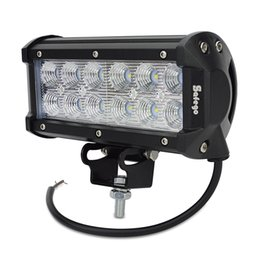 Wholesale 4x4 Off Road Wholesale - 36W Cree LED Work Light Bar Work Light Lamp 2800lm Car Tractor Boat Off-Road 4WD 4x4 12v 24v Truck SUV ATV Spot Flood Working Lamp