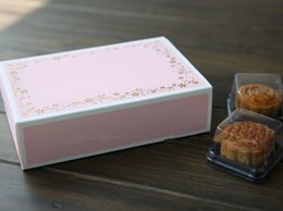 Wholesale Biscuits Decoration - Free shipping middle size pink gold flower decoration cookie dessert biscuit box candy sweets box gift packing boxes