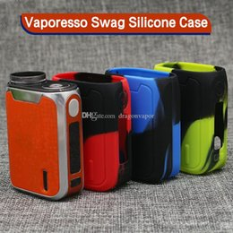 Wholesale Cover Swag - Colorful Vaporesso Swag Silicone Case Soft Protective Sleeve Cover for Swag 80W Box Mod E Cig High quality