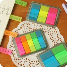 Wholesale Portable Sticky Notes - 3 size per set 8X5.5CM Cute Kawaii portable post it Stickers Bookmark Flags Memo Sticky Notes Pads Papeleria Stationery gifts