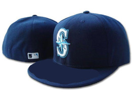 Wholesale 2017 newst Seattle Mariners On Field Baseball Fitted Hats Fashion Sport Men s Women s Full Closed Fitted Caps