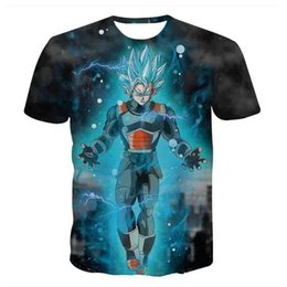 Wholesale Dragonball Z Goku Vegeta - New Dragon Ball Z T-shirts Mens Summer Fashion 3D Printing Super Saiyan Son Goku Black Zamasu Vegeta Dragonball T Shirt Tops Tee