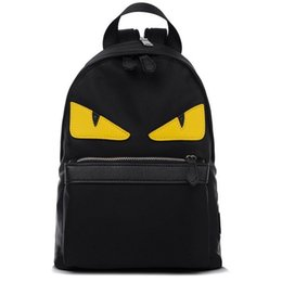 Wholesale Black White Canvas Backpack - Demon Big Eyes Small Monster Fashion Backpack Monster Teenagers Girls Boys Nylon School Bags Cartoon Couple Bag Mochila Escolar B 7030904