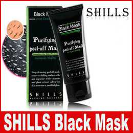 Wholesale Cleaning Mud - SHILLS Black Mask Blackhead Remover Deep Care Cleansing Peel Off Black Mud Mask Purifying Peel Acne Black Heads Remover Pore Facial Mask