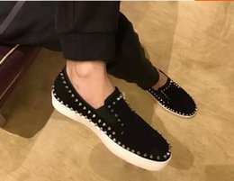Wholesale Bottom Boat - 2017 new wholesale Luxury Wedding Casual Shoes Men sneakers Party Spikes Shoes Red Bottom Boat Shoes Low top Sets size: 36-47 free shippin
