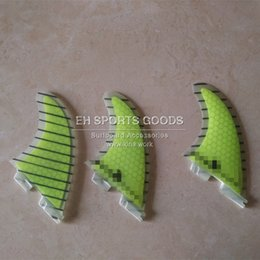Wholesale Surfboard Fin Set - surf surfboard SUP paddle board fiberglass fin with carbon line 2 base fins 3pcs set side fins